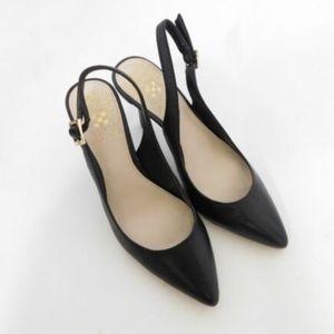 Vince Camuto Black Stephania Leather Heels Career
